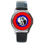 YIN YANG DRAGONS Art Design Tai Chi Round Metal Watch