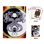 YIN YANG DRAGONS Tai Chi Art Design Playing Card