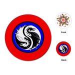 YIN YANG DRAGONS Art Design Tai Chi Round Playing Card