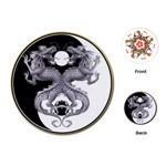 YIN YANG DRAGONS Tai Chi Art Design Round Playing Card