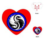 YIN YANG DRAGONS Art Design Tai Chi Heart Playing Card