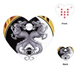 YIN YANG DRAGONS Tai Chi Art Design Heart Playing Card