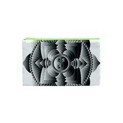 Lotus Mandala Flower Floral Cosmetic Bag (xs) by Nexatart
