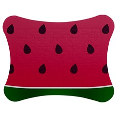 Watermelon Fruit Summer Red Fresh Jigsaw Puzzle Photo Stand (bow) by Nexatart