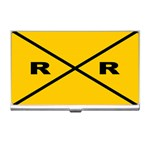 RAILROAD Union Train Model R.R Xing Sign Set Business Name Card Holder Case