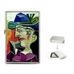 WOMAN IN A BLUE HAT PICASSO Art Gallery Flip Top Lighter
