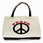 PEACE Handbag Peaceful No War Classic Canvas Tote Bag