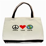 PEACE LOVE EARTH Handbag Gifts Classic Canvas Tote Bag