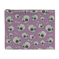 Halloween Skull Pattern Cosmetic Bag (xl)