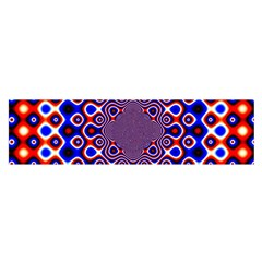 Digital Art Background Red Blue Satin Scarf (oblong) by Sapixe