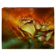 Rose Flower Petal Floral Love Cosmetic Bag (xxxl) by Sapixe