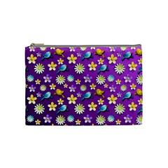 Default Floral Tissue Curtain Cosmetic Bag (medium)