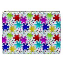 Snowflake Pattern Repeated Cosmetic Bag (xxl) by Jojostore