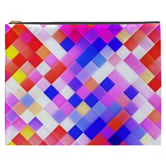 Squares Pattern Geometric Seamless Cosmetic Bag (xxxl) by Sapixe
