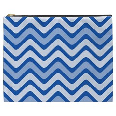 Waves Wavy Lines Pattern Design Cosmetic Bag (xxxl)