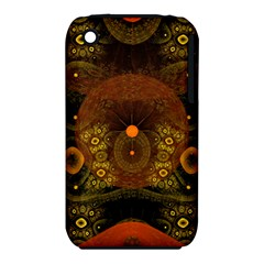 Fractal Yellow Design On Black Iphone 3s/3gs by Jojostore
