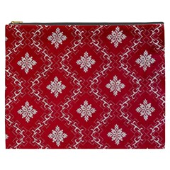 Chorley Weave Red Cosmetic Bag (xxxl) by DeneWestUK