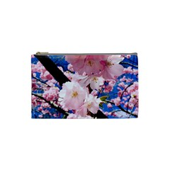 Flower Cherry Wood Tree Flowers Cosmetic Bag (small) by Sapixe