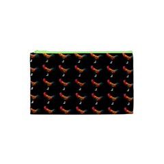 Background Pattern Chicken Fowl Cosmetic Bag (xs) by Jojostore