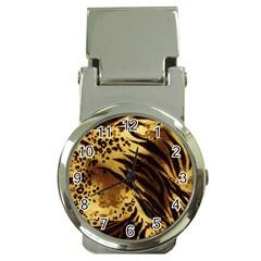 Stripes Tiger Pattern Safari Animal Print Money Clip Watches