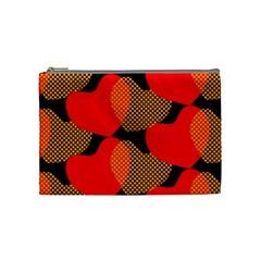 Heart Pattern Cosmetic Bag (medium) by Jojostore