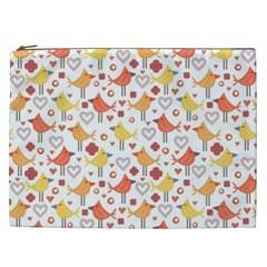 Animal Pattern Happy Birds Seamless Pattern Cosmetic Bag (xxl) by Jojostore