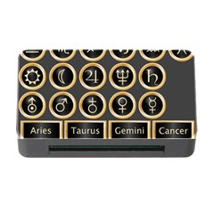 Black And Gold Buttons And Bars Depicting The Signs Of The Astrology Symbols Memory Card Reader With Cf