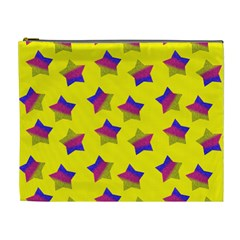 Ombre Glitter  Star Pattern Cosmetic Bag (xl)