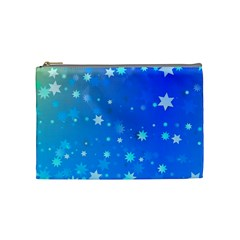 Blue Hot Pink Pattern Blue Star Background Cosmetic Bag (medium) by Jojostore