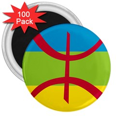 Berber Ethnic Flag 3  Magnets (100 Pack)
