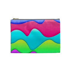 Lines Curves Colors Geometric Lines Cosmetic Bag (medium) by Sapixe