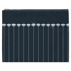 Pinstripe In Diamond Head Pins Pattern Cosmetic Bag (xxxl)