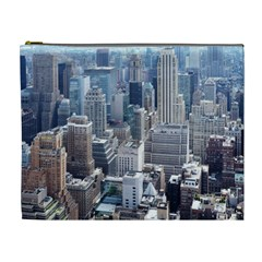 Manhattan New York City Cosmetic Bag (xl) by Sapixe