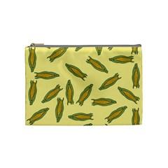 Corn Pattern Cosmetic Bag (medium) by Valentinaart