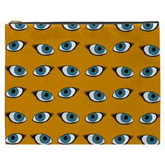 Blue Eyes Pattern Cosmetic Bag (xxxl) by Valentinaart