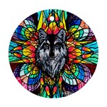 Wolf - Round Ornament (Two Sides)
