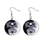 YIN YANG DRAGONS Tai Chi Art Design Earrings
