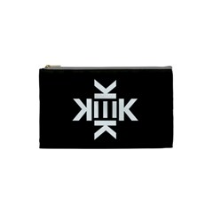 Official Logo Kekistan Kek Black And White On Black Background Cosmetic Bag (small) by snek