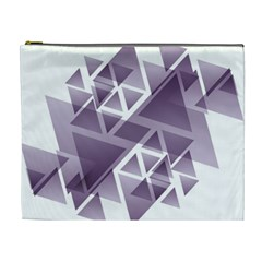 Geometry Triangle Abstract Cosmetic Bag (xl) by Alisyart