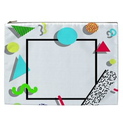 Abstract Geometric Triangle Dots Border Cosmetic Bag (xxl) by Alisyart
