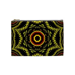 Mosaic Yellow Star Cosmetic Bag (medium) by Jojostore
