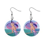 Palm Beach Purple Fine Art Sharon Tatem Fashion Apparel and Products 1  Button Earrings