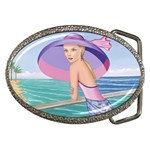 Palm Beach Purple Fine Art Sharon Tatem Fashion Apparel and Products Belt Buckle