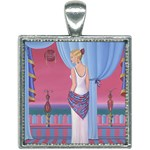 Palm Beach Perfume Art Collection Square Necklace