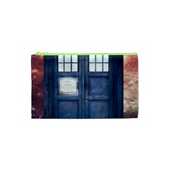 Doctor Who Tardis Cosmetic Bag (xs) by Bejoart