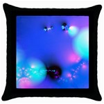 Love In Action, Pink, Purple, Blue Heartbeat Throw Pillow Case (Black)