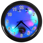 Love In Action, Pink, Purple, Blue Heartbeat Wall Clock (Black)