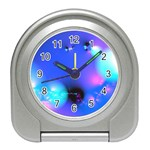 Love In Action, Pink, Purple, Blue Heartbeat Travel Alarm Clock