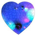 Love In Action, Pink, Purple, Blue Heartbeat Jigsaw Puzzle (Heart)