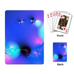 Love In Action, Pink, Purple, Blue Heartbeat Playing Cards Single Design